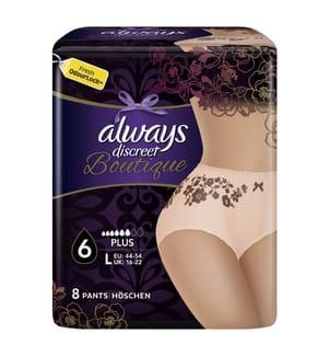 Alway Pantalon d'Incontinence Always Discreet Boutique L - Pack de 8 Pièces
