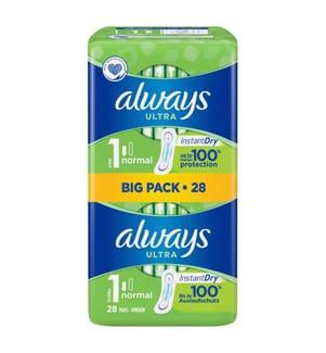 Always Einlagen Ultra Normal Bigpack, Grösse 1 - 28 Stück
