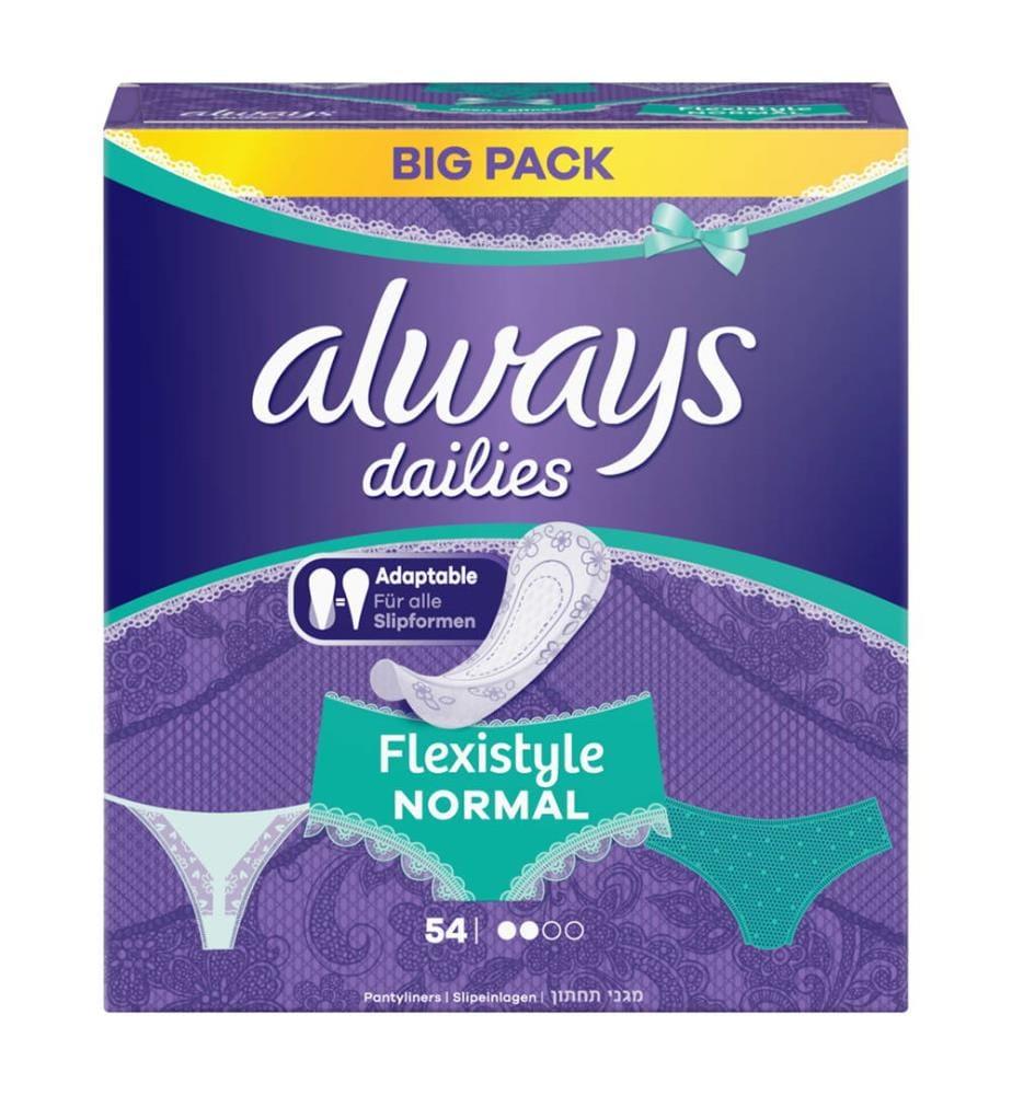 Always Slipeinlagen Fresh & Protect Normal Flexistyle Big Pack - 54 Stück
