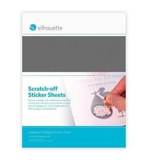 SILHOUETTE - Selbstklebendes Stickerpapier Zum Aufkratzen Silber, Grau - 5 Blatt