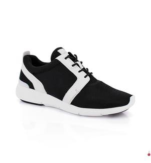 Leder-Sneakers Amanda - Schwarz und Weiss