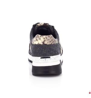 Leder-Sneakers Michael Kors Allie Trainer - Grau und Beige
