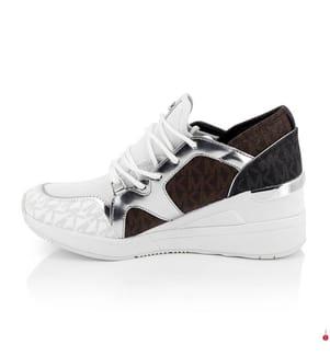 Plateau-Sneakers Liv Trainer - Weiss und Braun