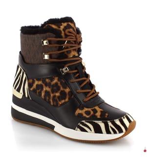 Leder-Sneakers Liv - Braun und Hellbraun