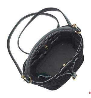 Leder-Beuteltasche Dryden Debby III Mini Velvet - Schwarz