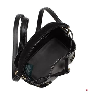 Leder-Beuteltasche Dryden Debby III Mini - Schwarz