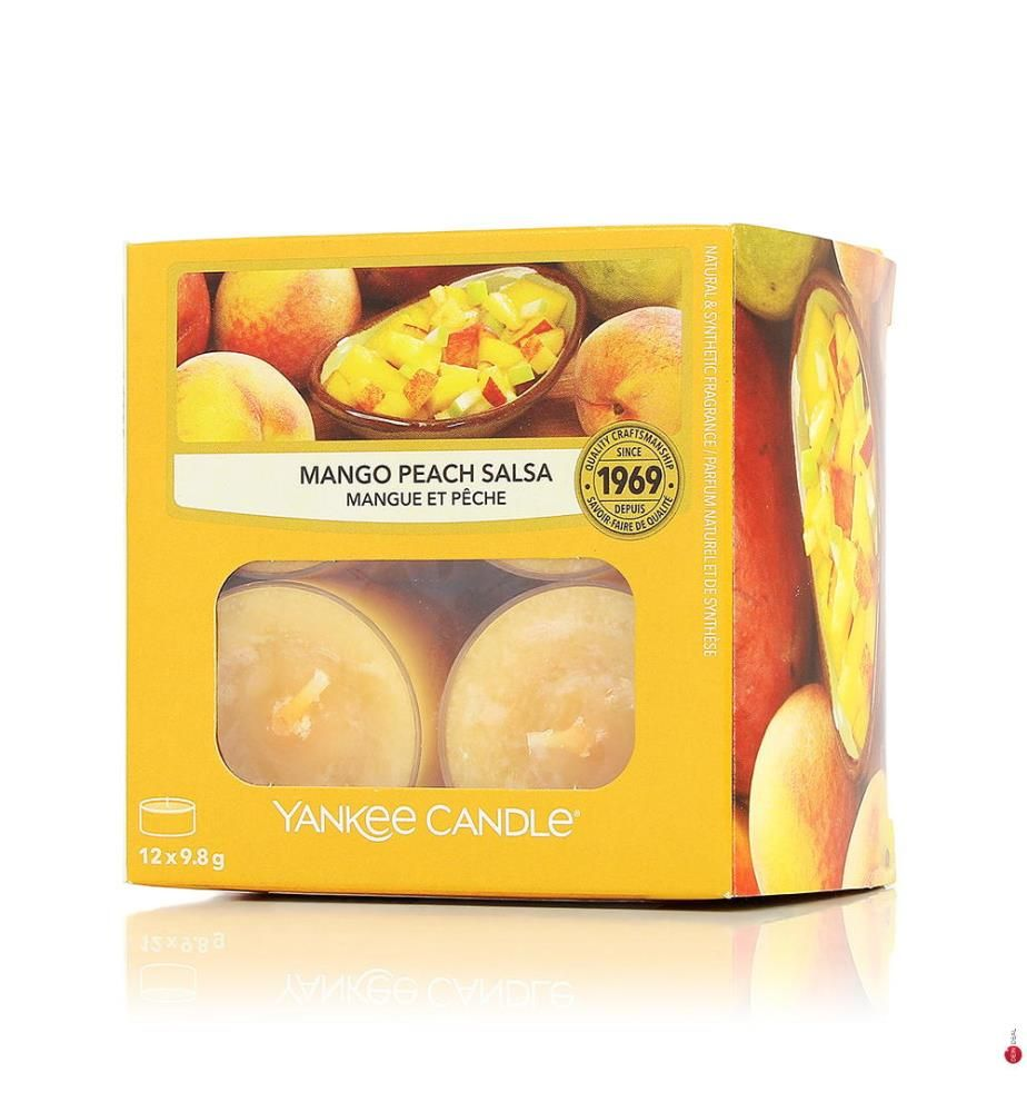 YANKEE CANDLE - 12er-Set Duft-Teelichter Mango Peach Salsa - 118 g