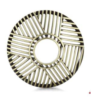 YANKEE CANDLE - Dekorativer Deckel Crosshatch Brass - Gold
