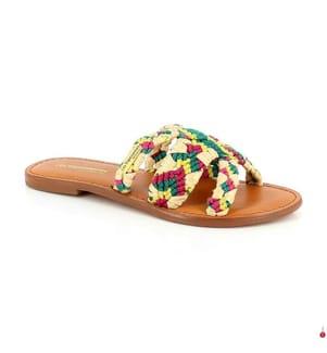 LES TROPEZIENNES - Lederpantoletten Good - Multicolor