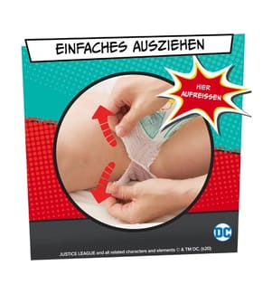 PAMPERS - Baby Dry Nappy Pants - Grösse 5 (12-17 kg) - 108 Windeln JUSTICE LEAGUE