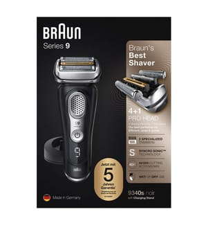 BRAUN - Series 9, 9340s Wet&Dry Schwarz