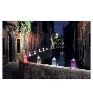 KARTELL - LED-Leuchte Latern - Transparent Lila
