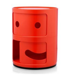 KARTELL - Baukastenelemente Componibili Smile - Rot