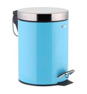 3-Liter Mülleimer - Hellblau und Silber