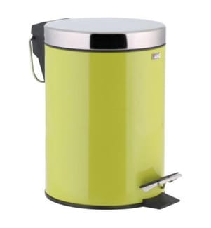 3-Liter Mülleimer - Hellgrün und Silber
