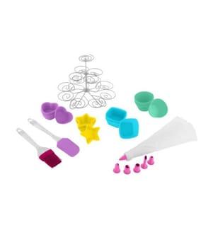 Cupcake-Set 28 tlg. Metall Silikon, PP