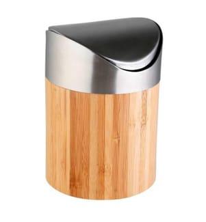 0.2-Liter Mülleimer - Silber und Hellbraun