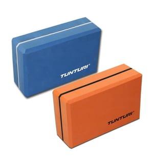 TUNTURI - Yoga Block Klotz Blau