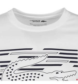 LACOSTE - T-Shirt Sport, Weiss und Schwarz