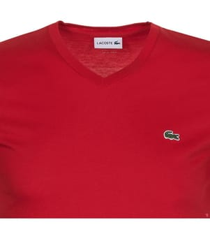 LACOSTE - T-Shirt Regular Fit, Rot