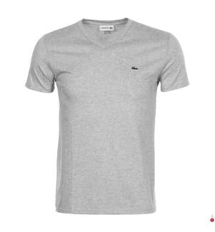 LACOSTE - T-Shirt aus Pima-Baumwolle, Hellgrau