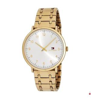 TOMMY HILFIGER - Armbanduhr James - Gold und Weiss