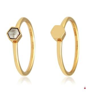 CLUSE - 2 Ringe Idylle - Gold
