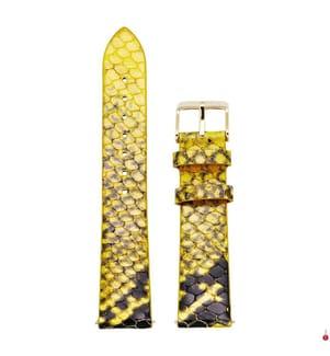 CLUSE - Leder-Armband La Boême 18 mm - Gelb und Schwarz
