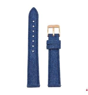 CLUSE - Leder-Armband Minuit - Blau und Roségold