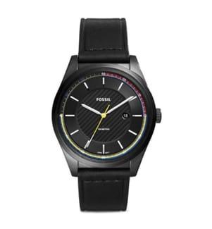 FOSSIL - Leder-Armbanduhr Mathis - Schwarz