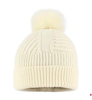 WOOLRICH - Beanie Soft Wool, Weiss