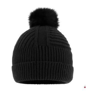 WOOLRICH - Beanie Soft Wool, Schwarz