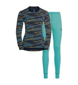Sport-Ensemble Leggings und T-Shirt - Multicolor