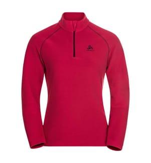 Fleece-Pullover Rigi - Rot