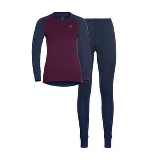 Sport-Ensemble Leggings und T-Shirt - Grau und Bordeaux