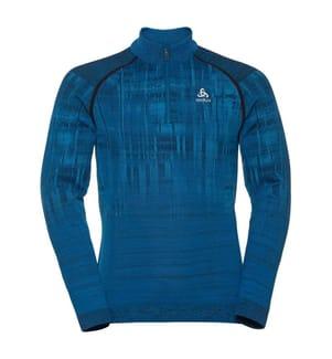 Fleece-Pullover - Blau