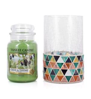 YANKEE CANDLE - Duftkerzen im Boxset Olive & Thym - 623 g
