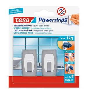 Tesa® - Powerstrips selbstklebende Metall-Haken, bis 1kg, wieder ablösbar, konvex, 2 STüCk
