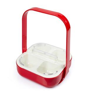 ZAK DESIGN - Behälter mit 4 Fächern Zak Design Caddy - Rot und Weiss