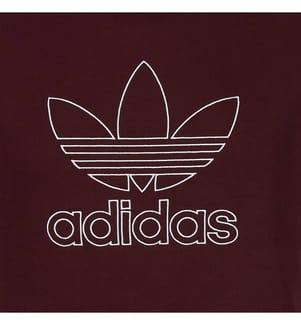 ADIDAS - Sweatshirt - Bordeaux