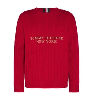TOMMY HILFIGER - Pullover Logo - Rot