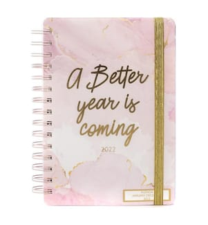 12-Monats-Agenda 2022 - rosa