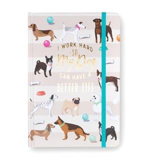 Notizbuch Dogs - Hellrosa