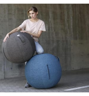 VLUV - Sitzball Stov Greige, Ø 60-65 cm