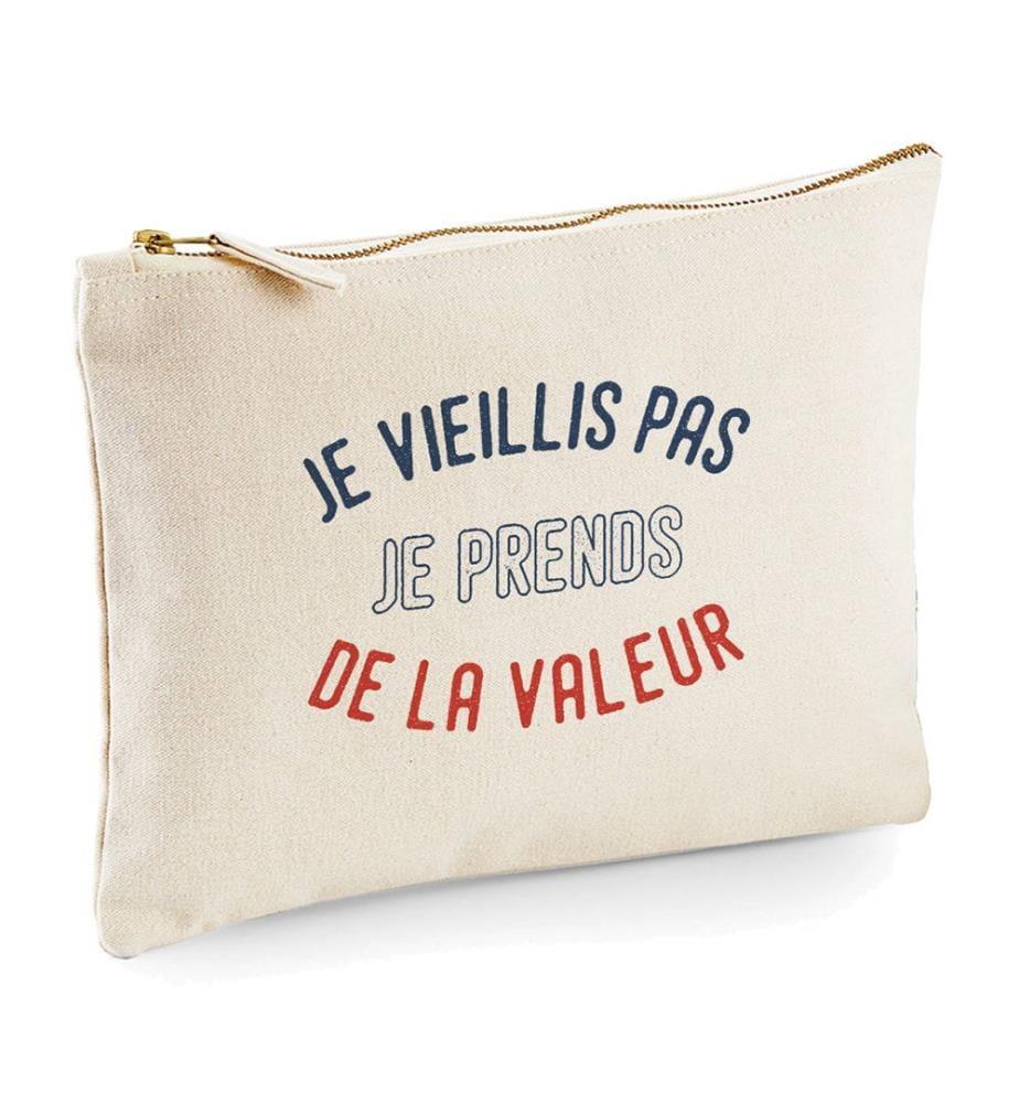 Federmappe Je Vieillis Pas Je Prends de la Valeur - Cremeweiss