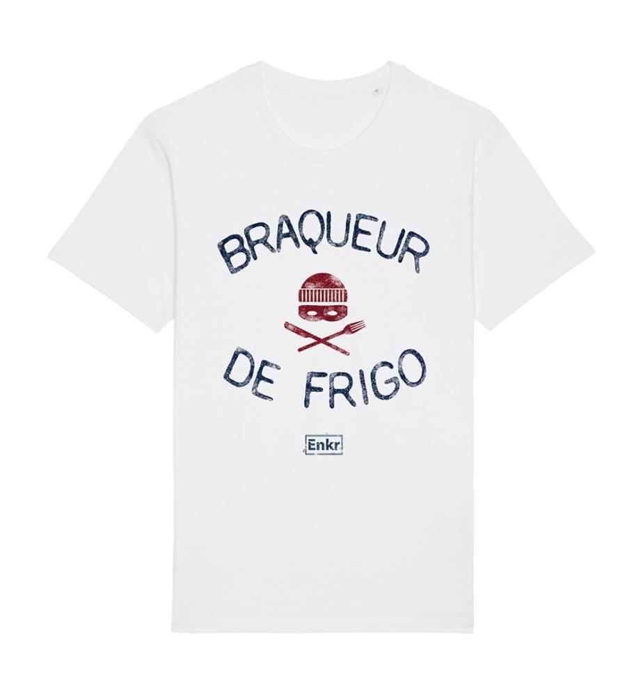 T-Shirt Braqueur de Frigo - Weiss