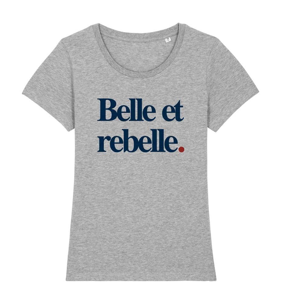 T-Shirt Belle Et Rebelle - Grau