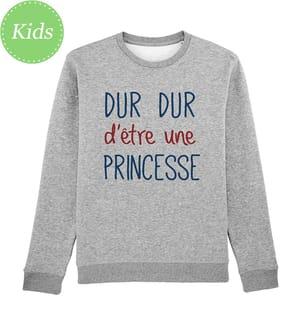 Sweatshirt Dur Dur d'Être Une Princesse - Grau