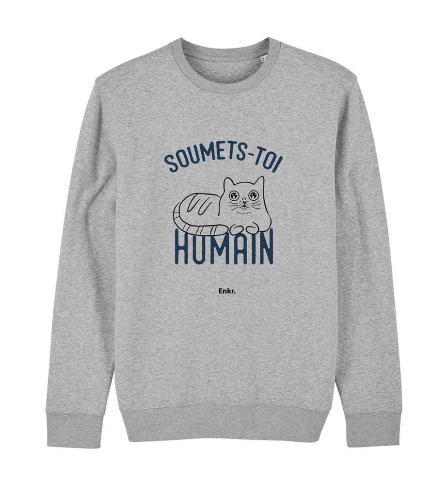 Sweatshirt Soumets-Toi Humain - Grau