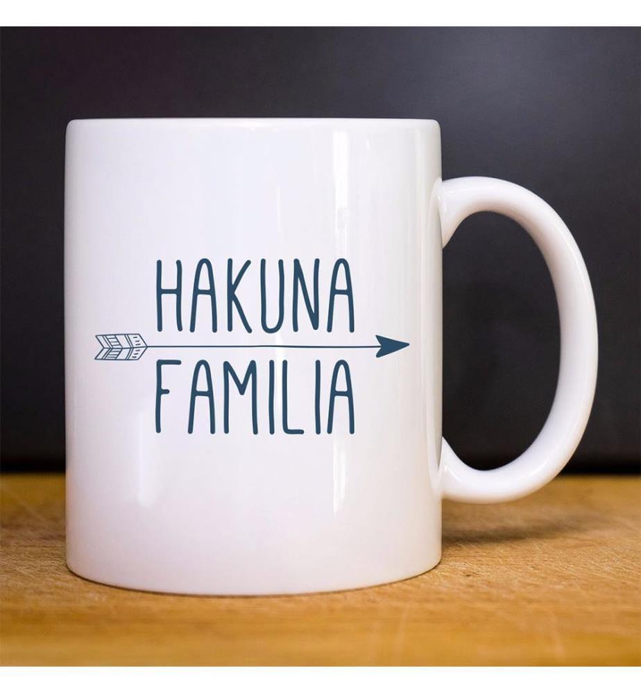 Kaffeebecher Hakuna Familia - Weiss